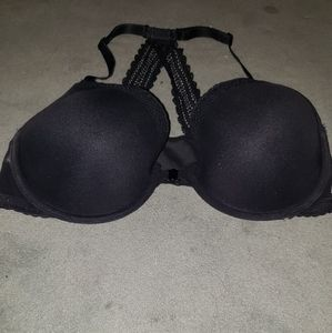 Black lacy bra